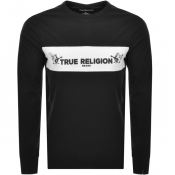 True Religion Long Sleeved Logo T Shirt Black